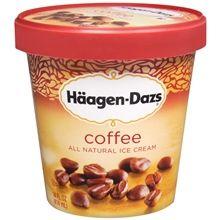 Coffee Haggen Daz. Makes my heart melt!