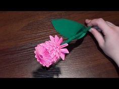 ▶ 3D origami flower rose tutorial (video with a surprise ending) - YouTube