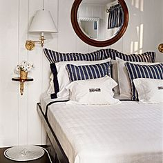 sailor-built-in-bed-wood-accents - Sailor Chic Interiors - Coastal Living Mobile