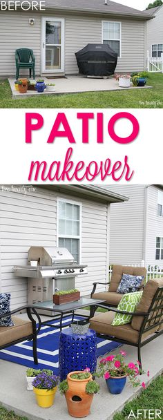 Love this small patio makeover!