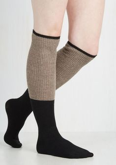 Knit With the Program Thigh Highs in Oat From the Plus Size Fashion Community at www.VintageandCurvy.com