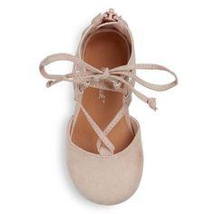 Toddler Girls' Tenley Ghillie Ballet Flats Cat & Jack - Pink 11
