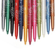 groothandel 12 stuks kleuren eyeliner wenkbrauw glitter schaduw lip eyeliner potlood pen cosmetische make-up set kit vrouwen schoonheid hotting $4.21 (free shipping)