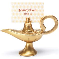 Genie Bottle Place Card Holder weddingshop.theknot.com/genie-bottle-place-card-holder.aspx #knotshop #weddings