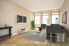 Chelsea, NYC 1BR Virtually Staged. Click to see unstaged.