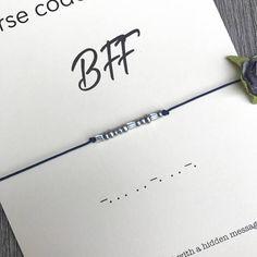 Bracelet de code BFF morse bracelet Bff meilleur ami pour