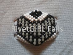 White UV Cheshire Cat inspired Cyber Raver Kandi Mask - Custom Order by RivetGiRL Falls