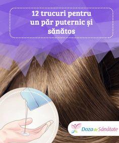 12 trucuri pentru un păr puternic și #sănătos  Pe lângă a-ți hrăni #podoaba capilară din #interior spre exterior, trebuie să ai grijă atunci când folosești produse pe bază de chimicale. Aceste substanțe tind să #slăbească părul și să îi reducă luciul. Creme, Hair Care, Facial, Health Fitness, Hair Beauty, Eyes, Hair Styles, Diet, The Body