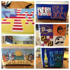 Painted sigma chi cooler for boyfriend's birthday!