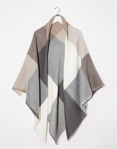 Image 3 ofASOS Oversized Square Scarf In Oversized Blown Up Check