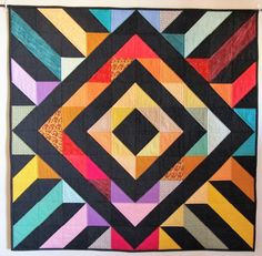 Steps and Diamonds A, Wall Hanging, Homemade Quilt for Sale, Handmade Quilt, Patchwork Quilt, Multicolor, Gift, Sofa Throw, Bed Topper by JoAnnsSmartQuilts on Etsy https://www.etsy.com/listing/499271843/steps-and-diamonds-a-wall-hanging