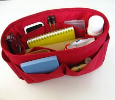 Bag Organizer  Water Resistant Nylon  Large by tippythai on Etsy, $28.00