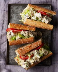 Chicken Salad Sandwiches Recipe on Food & Wine    I love chicken salad.  Can't wait to try this one.
