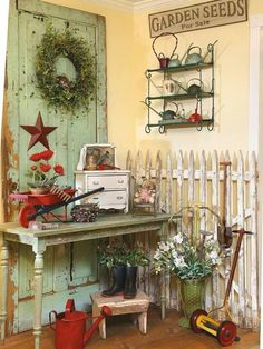 Cool way to bring the garden feel inside for the inevitable six months of winter here!  NRY