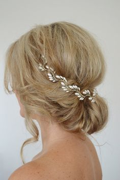 Art Deco Bridal Hair Vine Pearl Bridal by RoslynHarrisDesigns