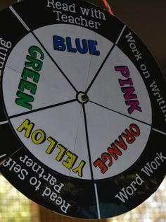 Education to the Core: AWESOME idea! FREE Daily Five Rotation Wheel for Centers.  Just turn to change rotations!  All the students will be able to see where they are supposed to be and it makes centers SO easy!