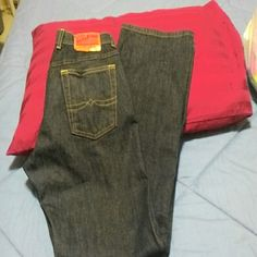 NWOT Lucky Brand Jeans Never washed, or worn, the inseam is 31, bought them and was going to alter them, but never did. These are a looser style jeans. Lucky Brand Jeans