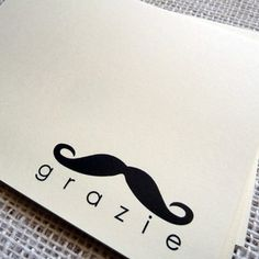 Grazie 'Stache Cards Set Of 10 now featured on Fab.