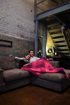 Getting cozy for a movie. Getting Cozy, Outdoor Furniture, Outdoor Decor, Loft, Real Estate, The Unit, Bed, Interior, Movie