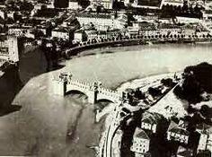 WII Verona - i danni al ponte Scaligero di Castelvecchio dopo la ritirata dell'esercito tedesco 1945. Verona, Wii, Italia, War