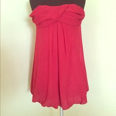 Strapless dress Red strapless dress Dresses Mini