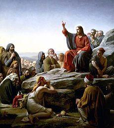 The Sermon On the Mount by Carl Heinrich Bloch, Danish painter, d. 1890.