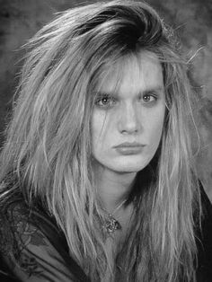 Sebastian Bach from skid row. i found my boy band love. if only we were still in the 80s :(