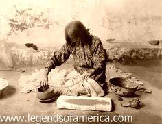 Zuni pottery-making