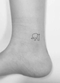 51 Cute Ankle Tattoos for Women – Ankle Tattoo Ideas Ankle Tattoos Ideas for Women: Elephant Ankle Tattoo Ankle Tattoos For Women, Tattoo Quotes For Women, Tattoo Designs For Women, Tattoos For Women Small, Mini Tattoos, Trendy Tattoos, Tattoos For Guys, Cute Ankle Tattoos, Leg Tattoos
