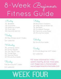 Beginner Fitness Jumpstart: Week 4 - Happiness is Homemade