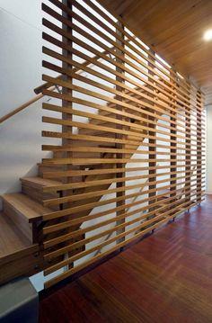 Simple wood screen.