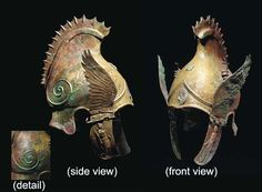 An Exceptional and Elaborate Greek Bronze Phrygian-Chalcidian Type Winged Helmet | Flickr - Photo Sharing!