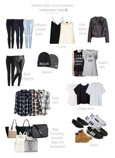"""madisonbeer-style: """"Madison Beer School Essentials Some of you have no clue to what Mad would wear to school. Since she is homeschooled, is it too difficult for us to have an idea, BUT, here it is..."""