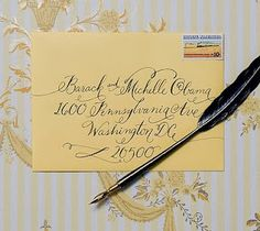 Vintage Handwritten Envelope with old time stamps!
