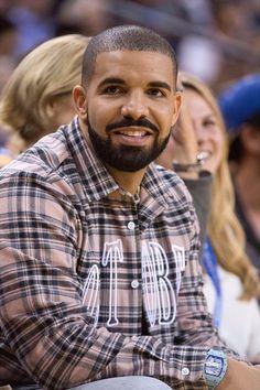 Drake wearing OVO Flannel Shirt