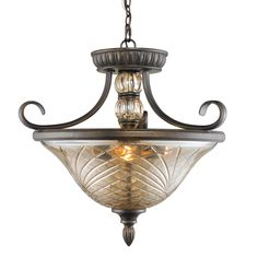 Golden Lighting's Alston Place Semi-flush/Ceiling Fixture #8118-SF BUS