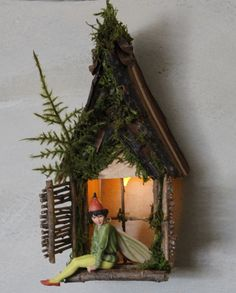 Fairy Window with Gabled Dormer / Delicate by OliveNatureFolklore