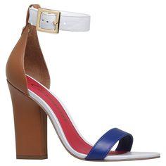 Shoes / calçados Sandália de tiras Sandalia isaura ocre/branco/azul - Carmim Store