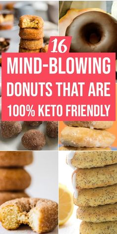 These easy keto donut recipes are fantastic! If you're looking for easy, low carb donut recipes to curb you Low Carb Doughnuts, Low Carb Donut, Keto Donuts, Keto Foods, Ketogenic Recipes, Low Carb Recipes, Coconut Flour Recipes Low Carb, Quick Keto Breakfast, Perfect Breakfast