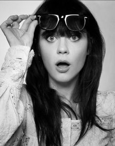 Zooey Deschanel's hair is the epitome of perfection.