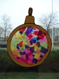 kerstbal mat zijdepapier