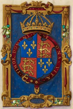 Arms of Edward VI ~ Isocrates, Ad Nicoclem and Nicocles Arms of Edward VI (Paris,1550).