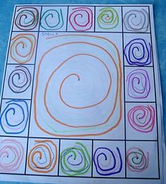 This would be great for dry erase mats! Place design in middle and see if kiddos can copy it inside of each box around the edge. Pre Writing, Writing Skills, Kindergarten Art Lessons, Form Drawing, Dot Day, Math Projects, Motor Activities, Mark Making, Fine Motor Skills