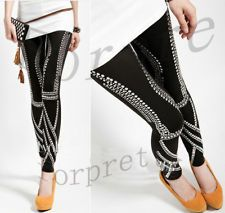 Woman Rock Punk Galaxy Rivet Studs Spike Leggings Legwear Tights K522
