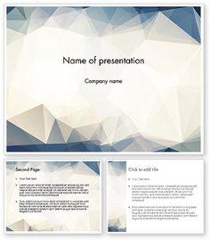 Hipster Triangles Pattern PowerPoint Template #12833
