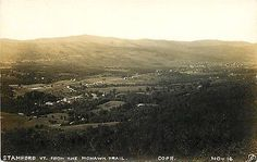 Stamford Vermont VT 1920 Real Photo Vintage Postcard Town View From Mohawk Trail Stamford Vermont VT 1920s Real photo postcard of Stamford from Mohawk Trail. Unused antique vintage real photo postcard