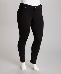 Another great find on #zulily! Black Jeggings - Plus by 1826 Jeans #zulilyfinds