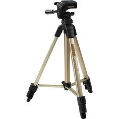 "Sunpak 620-020 Tripod With 3-Way Pan Head (Folded Height: 18.5""; Extended Height: 49""; Weight: 2.3Lbs)"