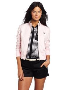 Fred Perry Women s Cropped Harrington Jacket Fred Perry.  325.00. 97%  Cotton 3% Elastane. Hand Wash. Cropped. Harrington 04d745cdf0