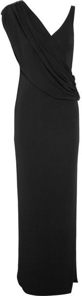 notte marchessa Embellished Draped Jersey Gown - Lyst